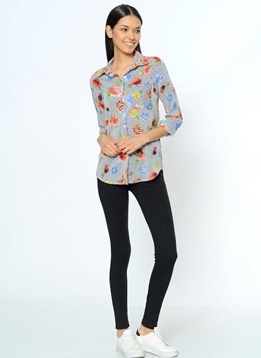 Çiçek Desenli Gömlek-Dewberry